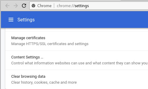 Chrome manage certificates