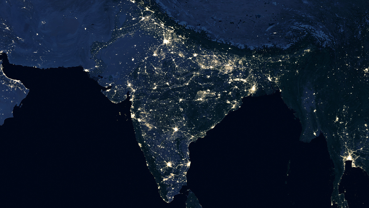 India at night time