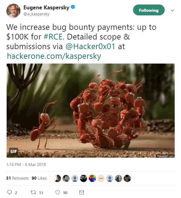 Kaspersky RCE bug bounty increased to $100k | The Daily Swig