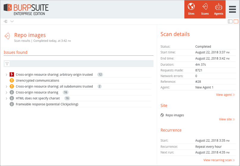 Enterprise Edition: performing scans | Blog - PortSwigger