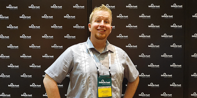 Adam Kujawa at Black Hat 2019 (Image: PortSwigger Ltd)
