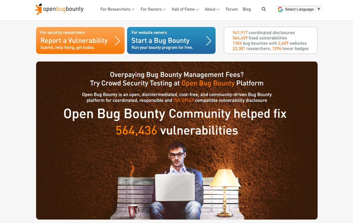 Open Bug Bounty is a bug bounty and crowdsourced security platform