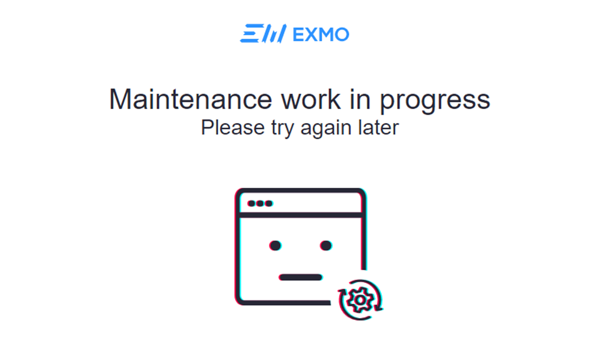 The EXMO website was still offline on February 16