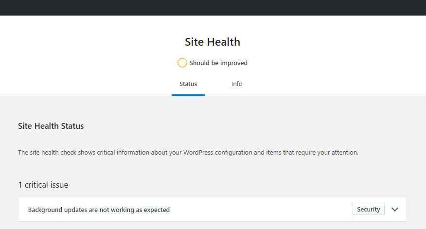 WordPress Site Health was launched in February 2019