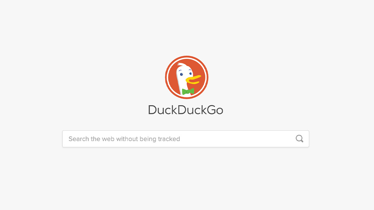The DuckDuckGo homepage