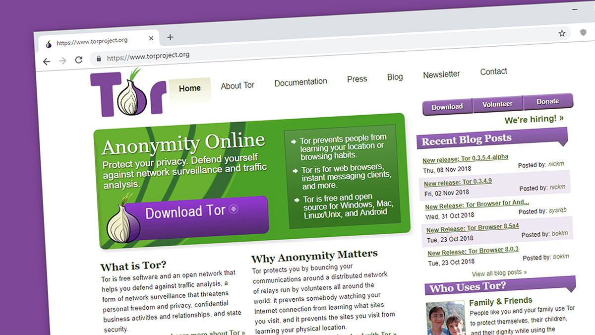 Tor is easiest to access via the Tor Browser