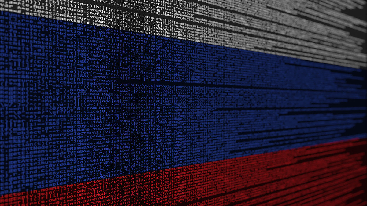 Russian flag in computer code, FIN11