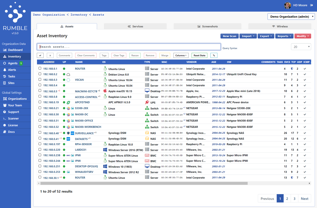 Rumble helps security researchers with network discovery and asset inventory