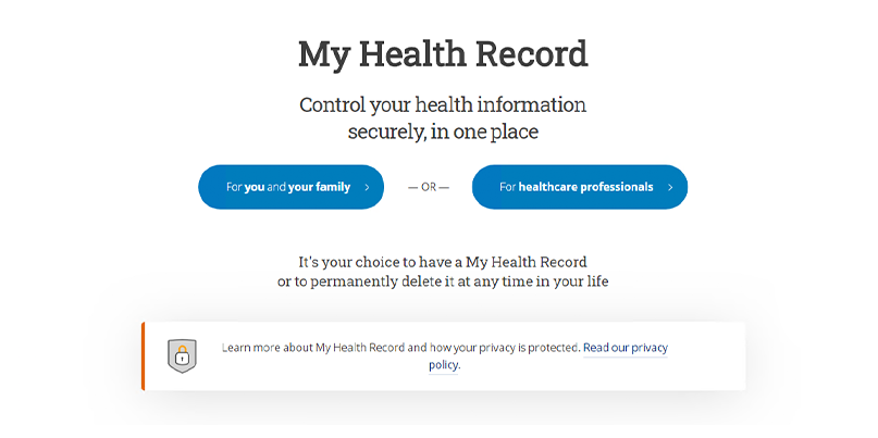 My Health Record is an opt-out healthcare scheme in Australia