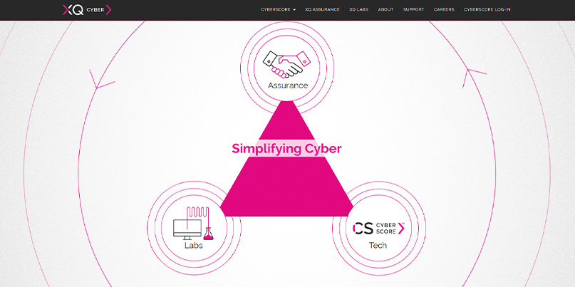 The XQ Cyber website is still up and running