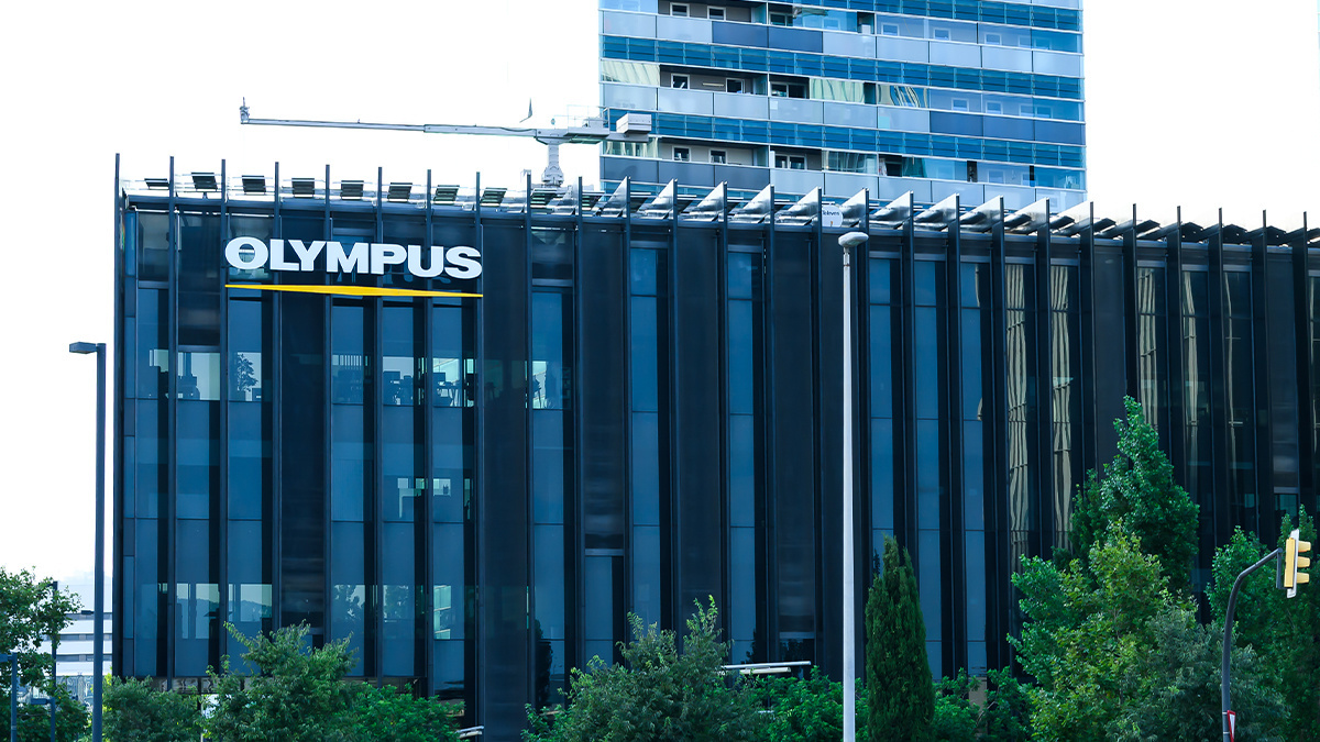 European headquarters of Olympus, which has been hit by a cyber-attack