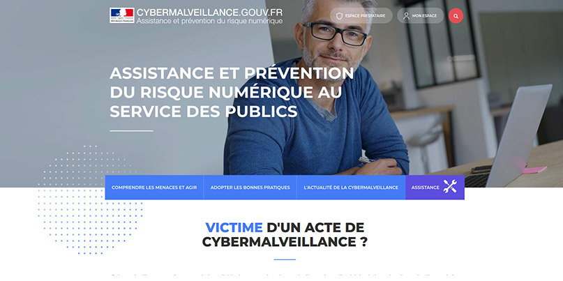 Cybermalveillance home page