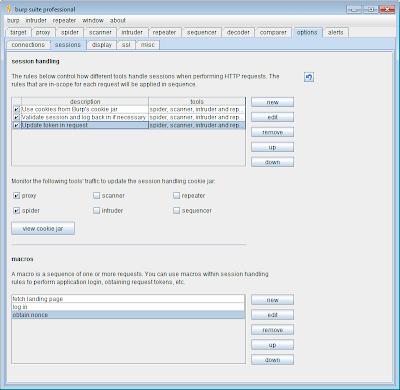 Burp v1 4 preview - Session handling: putting it all together | Blog