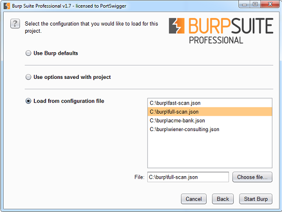 Introducing Burp Projects | Blog - PortSwigger