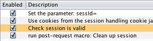 custom session handling rules