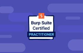 Burp Suite Certified Practitioner